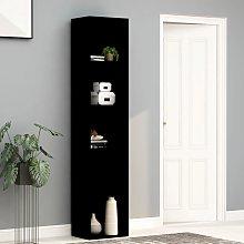 vidaXL Book Cabinet Black 40x30x189 cm Chipboard