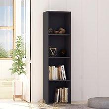 vidaXL Book Cabinet Grey 40x30x151.5 cm Chipboard