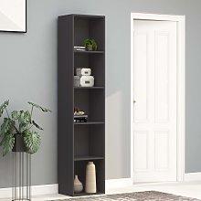 vidaXL Book Cabinet Grey 40x30x189 cm Chipboard