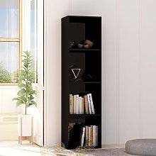 vidaXL Book Cabinet High Gloss Black 40x30x151.5