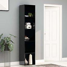 vidaXL Book Cabinet High Gloss Black 40x30x189 cm
