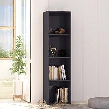 vidaXL Book Cabinet High Gloss Grey 40x30x151.5 cm