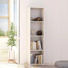vidaXL Book Cabinet High Gloss White 40x30x151.5