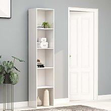 vidaXL Book Cabinet High Gloss White 40x30x189 cm