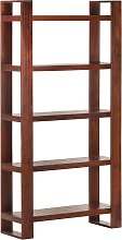 vidaXL Book Cabinet Honey Brown 85x30x166 cm Solid