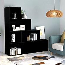 vidaXL Book Cabinet/Room Divider Black 155x24x160