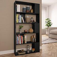 vidaXL Book Cabinet/Room Divider Black 80x24x159