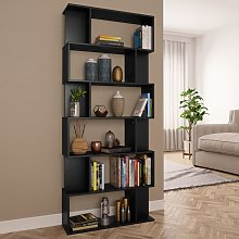 vidaXL Book Cabinet/Room Divider Black 80x24x192