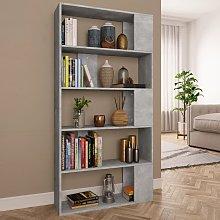 vidaXL Book Cabinet/Room Divider Concrete Grey