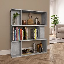 vidaXL Book Cabinet/Room Divider Concrete Grey