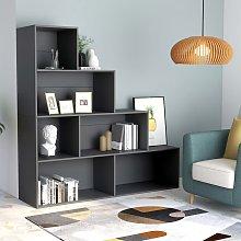 vidaXL Book Cabinet/Room Divider Grey 155x24x160