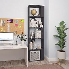 vidaXL Book Cabinet/Room Divider Grey 45x24x159 cm