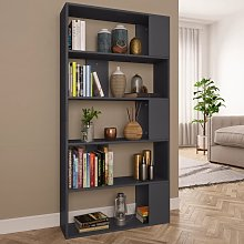 vidaXL Book Cabinet/Room Divider Grey 80x24x159 cm