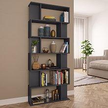 vidaXL Book Cabinet/Room Divider Grey 80x24x192 cm