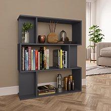 vidaXL Book Cabinet/Room Divider Grey 80x24x96 cm