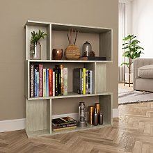 vidaXL Book Cabinet/Room Divider Sonoma Oak