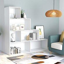 vidaXL Book Cabinet/Room Divider White 155x24x160