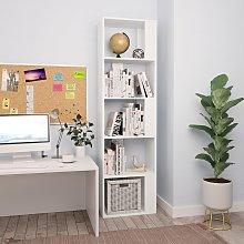 vidaXL Book Cabinet/Room Divider White 45x24x159
