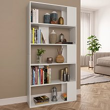vidaXL Book Cabinet/Room Divider White 80x24x159