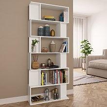 vidaXL Book Cabinet/Room Divider White 80x24x192
