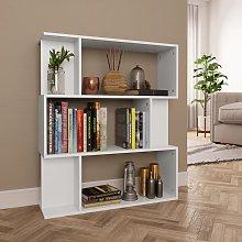 vidaXL Book Cabinet/Room Divider White 80x24x96 cm