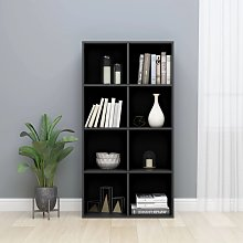 vidaXL Book Cabinet/Sideboard High Gloss Black