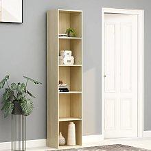 vidaXL Book Cabinet Sonoma Oak 40x30x189 cm