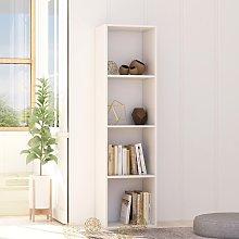 vidaXL Book Cabinet White 40x30x151.5 cm Chipboard