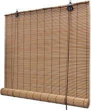 vidaXL Brown Bamboo Roller Blinds 120 x 220 cm