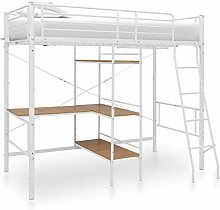 vidaXL Bunk Bed with Table Frame Bedroom Furniture