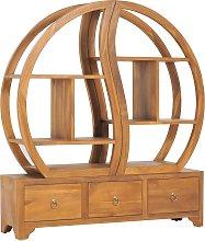 vidaXL Cabinet with Yin Yang Shelf 100x26x112 cm