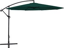 vidaXL Cantilever Umbrella 3.5 m Green
