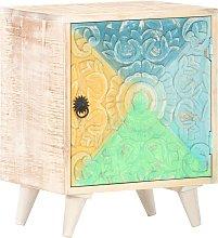 vidaXL Carved Bedside Cabinet 40x30x50 cm Solid
