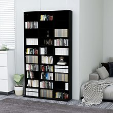 vidaXL CD Cabinet Black 102x23x177.5 cm Chipboard
