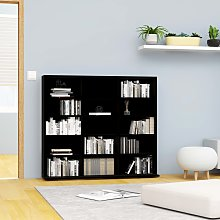 vidaXL CD Cabinet Black 102x23x89.5 cm Chipboard
