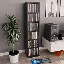 vidaXL CD Cabinet Black 21x20x88 cm Chipboard