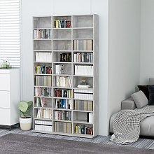 vidaXL CD Cabinet Concrete Grey 102x23x177.5 cm