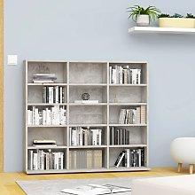 vidaXL CD Cabinet Concrete Grey 102x23x89.5 cm
