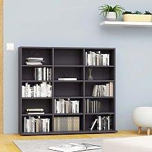 vidaXL CD Cabinet Grey 102x23x89.5 cm Chipboard
