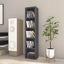 vidaXL CD Cabinet Grey 21x16x93.5 cm Chipboard