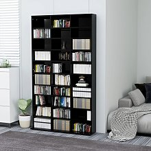 vidaXL CD Cabinet High Gloss Black 102x23x177.5 cm