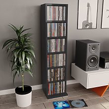 vidaXL CD Cabinet High Gloss Black 21x20x88 cm