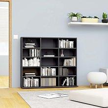 vidaXL CD Cabinet High Gloss Grey 102x23x89.5 cm