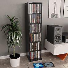 vidaXL CD Cabinet High Gloss Grey 21x20x88 cm