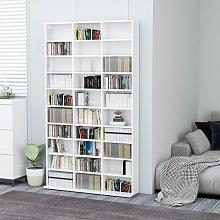 vidaXL CD Cabinet High Gloss White 102x23x177.5 cm