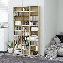 vidaXL CD Cabinet Sonoma Oak 102x23x177.5 cm