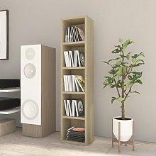 vidaXL CD Cabinet Sonoma Oak 21x16x93.5 cm