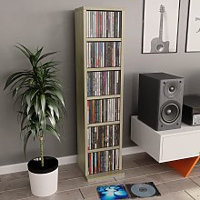 vidaXL CD Cabinet Sonoma Oak 21x20x88 cm Chipboard