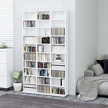 vidaXL CD Cabinet White 102x23x177.5 cm Chipboard