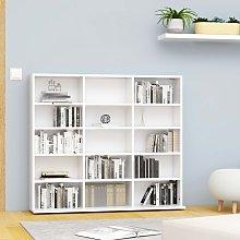 vidaXL CD Cabinet White 102x23x89.5 cm Chipboard